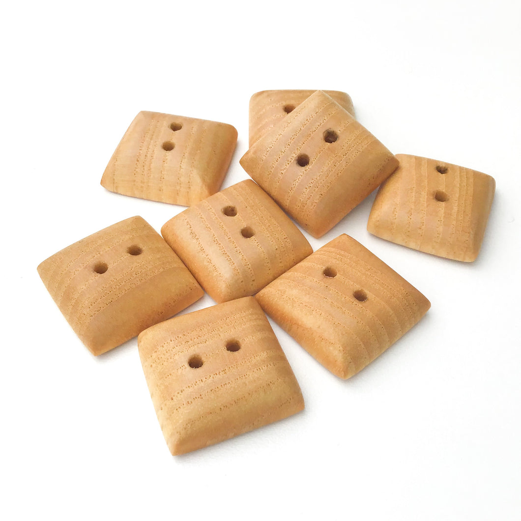 Large Maple Wood Buttons - Square Maple Buttons - 1