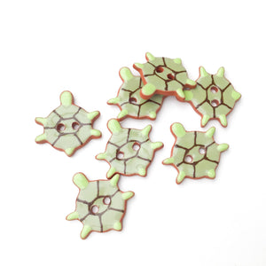 Turtle Buttons - Ceramic Turtle Buttons - Children's Animal Buttons  *Sold per grouping*