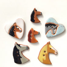 Load image into Gallery viewer, Equestrian Love Button Collection: Artisian Ceramic Horse Buttons - Buttons for Horse Lovers