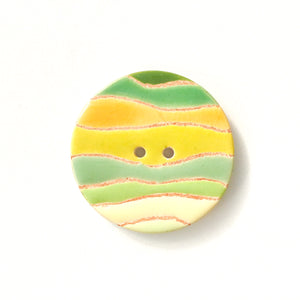 Colorful 'Waves' Quilted Buttons - Decorative Ceramic Buttons - 1 3/8""