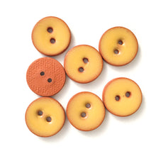 "Load image into Gallery viewer, Earthy Yellow Ceramic Buttons - Clay Buttons - 5/8"" - 7 Pack (ws-83)"