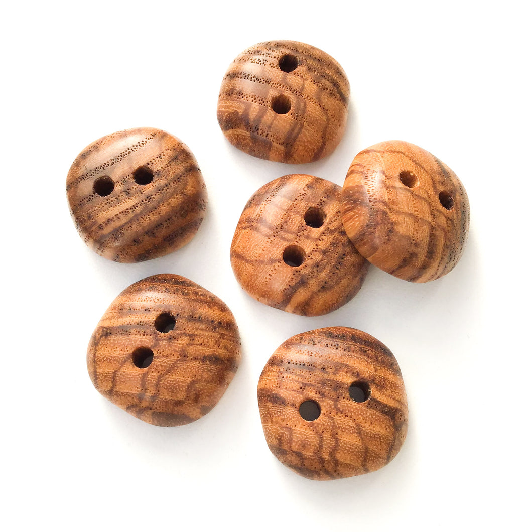 Ash Wood Buttons - Rounded Square Wood Buttons - 7/8