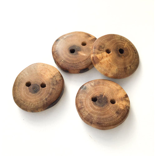 Spalted Black Walnut Wood Buttons - Live Edge Wood Buttons - 1