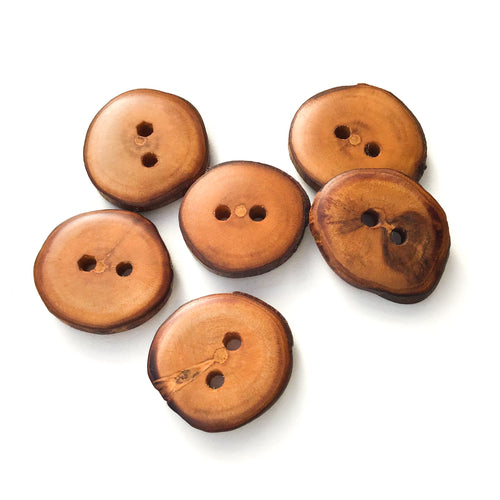 Apple Wood Buttons - Live Edge Apple Wood Buttons - 1  1/16