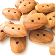 "Load image into Gallery viewer, American Elm Wood Buttons - Rectangular Wood Buttons - 3/8"" x 1  1/16"""