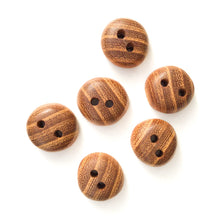 "Load image into Gallery viewer, Ash Wood Buttons - Rounded Wood Buttons - 3/4"" - 6 Pack"