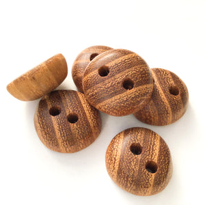 "Ash Wood Buttons - Rounded Wood Buttons - 3/4"" - 6 Pack"