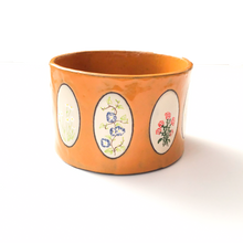 Load image into Gallery viewer, Ceramic Wildflower Planter - Hand Painted Flowers Pottery Bowl