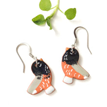 Load image into Gallery viewer, Ceramic Robin Earrings - Clay Bird Earrings