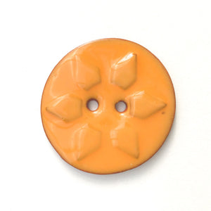 Sunshine Stamp Buttons - Orange & Yellow Sun Ceramic Buttons - 1 3/8""