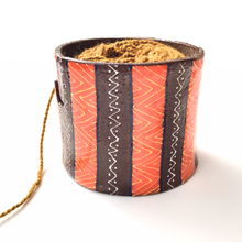 Load image into Gallery viewer, Colorful Tribal Print on Black Clay Yarn Bowl