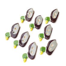 Load image into Gallery viewer, Mallard Duck Buttons - Ceramic Duck Buttons  (ws-125)