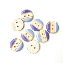 "Load image into Gallery viewer, 3/4"" Sky Blue & Purplish-Blue - round - buff clay (ws-192)"