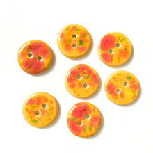 "Load image into Gallery viewer, Speckled Orange Ceramic Buttons - Round Ceramic Buttons - 3/4"" - 7 Pack (ws-225)"