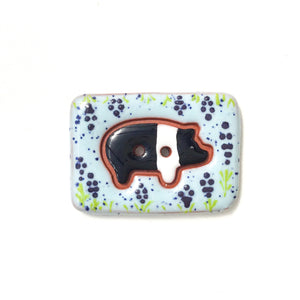 Pretty Pigs Button Collection: Ceramic Pig Buttons - Farm Animal Buttons