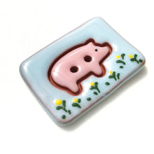 Load image into Gallery viewer, Pretty Pigs Button Collection: Ceramic Pig Buttons - Farm Animal Buttons