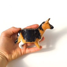 Load image into Gallery viewer, German Shepherd Planter - Ceramic Dog Plant Pot