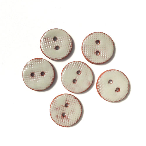 Taupe Ceramic Buttons - Taupe Clay Buttons - 3/4