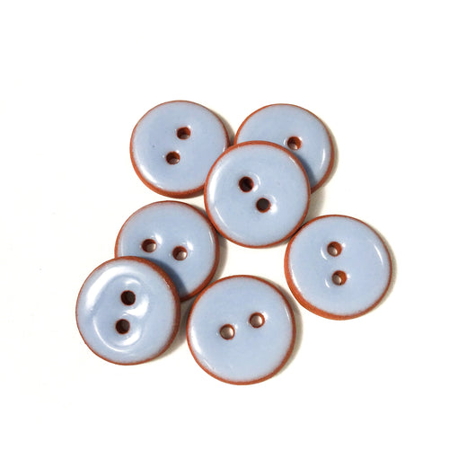 Periwinkle Ceramic Buttons - Periwinkle Clay Buttons - 3/4