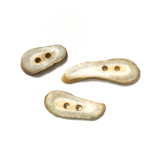 Deer Antler Shed Buttons - Polished Natural Antler Buttons - 7/16