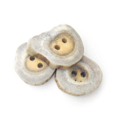 Deer Antler Shed Buttons - Polished Natural Antler Buttons - 7/8