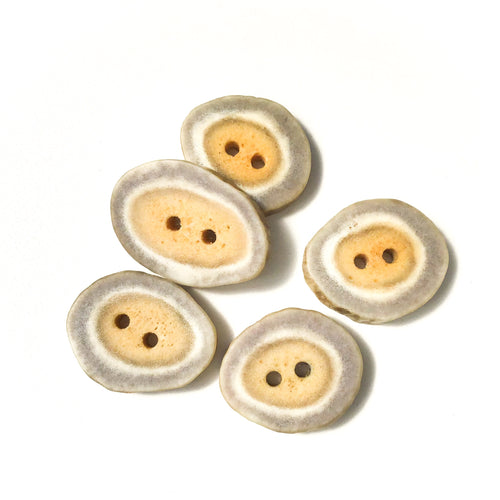 Deer Antler Shed Buttons - Polished Natural Antler Buttons - 7/8 to 1 1/16