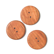 Load image into Gallery viewer, Large Quarter Sawn Cherry Wood Buttons - 1 7/8""