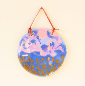 Wheat Field at Sunset - Decorative Ceramic Ornament