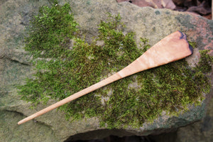 Ash Hair Pin with Rustic Live Edge