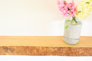 Live Edge Ash Floating Shelf