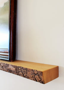 Long Live Edge Ash Floating Shelf