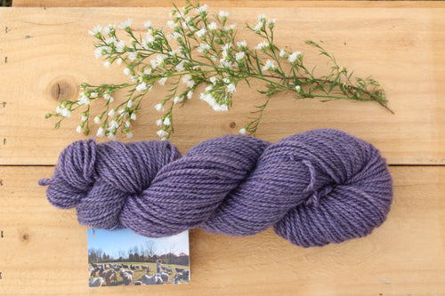 DK weight Hand-dyed Longwool Blend - 2 ply - WISTERIA