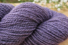 Load image into Gallery viewer, DK weight Hand-dyed Longwool Blend - 2 ply - WISTERIA