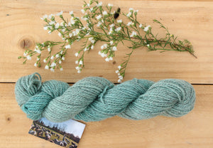 Sport weight Hand-dyed Longwool Blend - 2 ply - HYDRANGEA