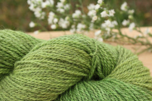 Sport weight Hand-dyed Longwool Blend - 2 ply - BURDOCK