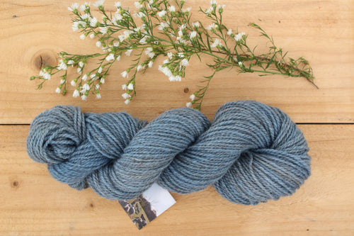 DK weight Hand-dyed Longwool Blend - 2 ply - BLUEBELL
