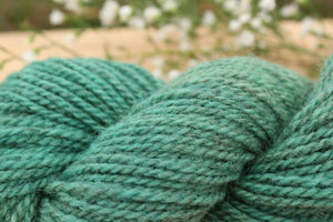 DK weight Hand-dyed Longwool Blend - 2 ply - LAGOON