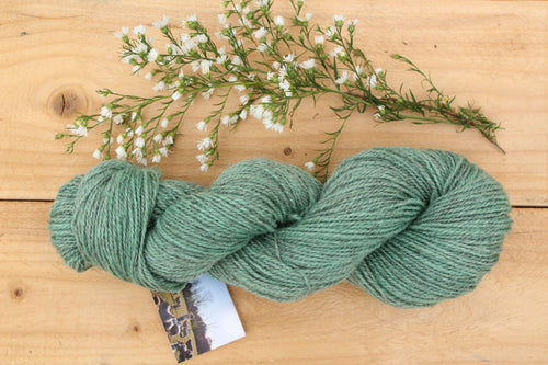 Sport weight Hand-dyed Longwool Blend - 2 ply - LICHEN