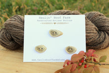 Load image into Gallery viewer, Deer Antler Shed Buttons - Set of 3