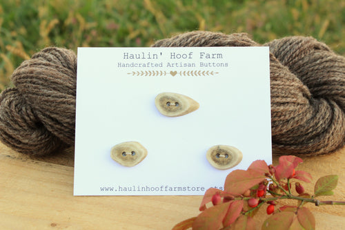 Deer Antler Shed Buttons - Set of 3