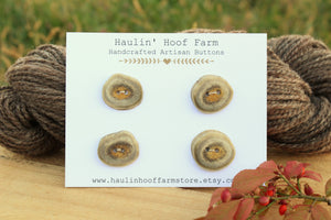 Deer Antler Shed Buttons - Set of 4