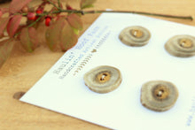 Load image into Gallery viewer, Deer Antler Shed Buttons - Set of 4