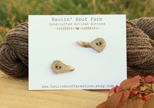 Deer Antler Shed Buttons - Set of 2