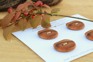 Live Edge Cherry Buttons - Set of 4