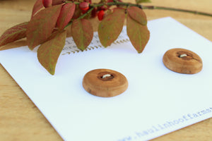 Apricot Wood Buttons - Set of 2