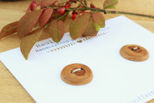 Load image into Gallery viewer, Apricot Wood Buttons - Set of 2