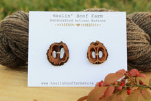 Load image into Gallery viewer, Black Walnut Shell Buttons - Set of 2