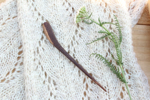 Black Walnut Sweater + Shawl Pin