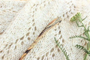 Spalted Poplar Sweater + Shawl Pin