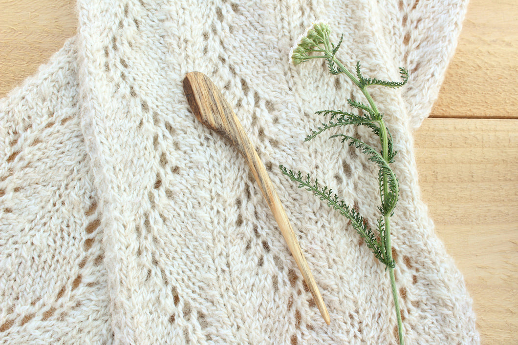 Spalted Ash Sweater + Shawl Pin